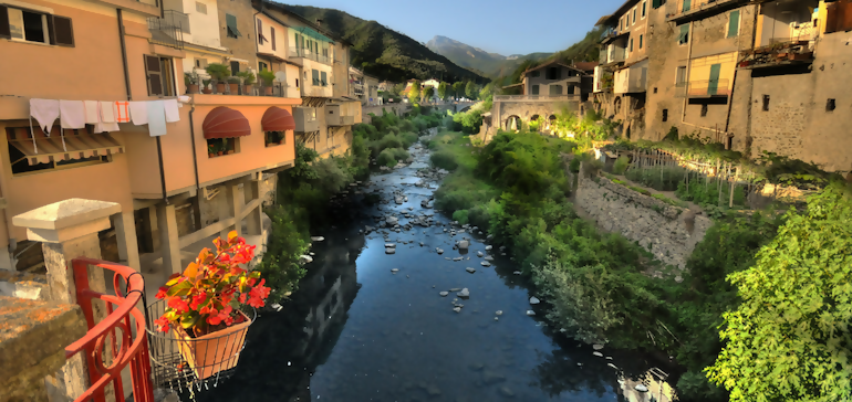 River Isolabona Liguria